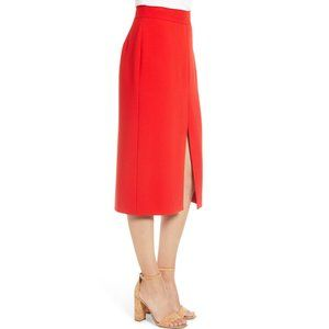 Court & Rowe NWT Red Front Slit Crepe Pencil Skirt